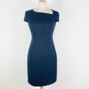 Tahari Navy Blue 6 Small Sheath Dress Career/Work